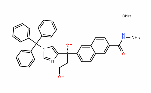 (S)-6-(1,3-DihyDroxy-1-(1-trityl-1H-imiDazol-4-yl)propyl)-N-methyl-2-naphthamiDe