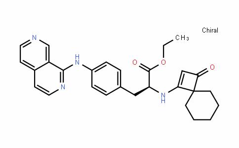(S)-ethyl 3-(4-(2,7-naphthyriDin-1-ylamino)phenyl)-2-(3-oxospiro[3.5]non-1-en-1-ylamino)propanoate