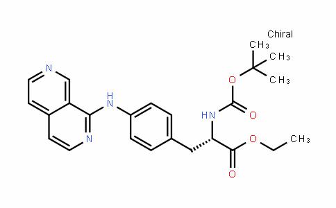 (S)-ethyl 3-(4-(2,7-naphthyriDin-1-ylamino)phenyl)-2-(Tert-butoxycarbonylamino)propanoate