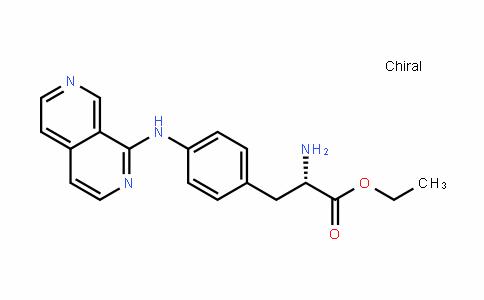 (S)-ethyl 3-(4-(2,7-naphthyriDin-1-ylamino)phenyl)-2-aminopropanoate