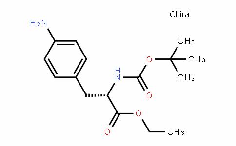(S)-ethyl 3-(4-aminophenyl)-2-(Tert-butoxycarbonylamino)propanoate