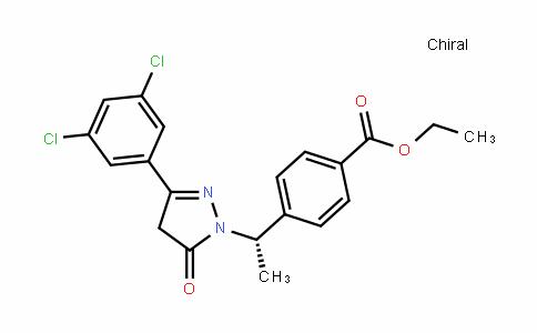 (S)-ethyl 4-(1-(3-(3,5-Dichlorophenyl)-5-oxo-4,5-DihyDro-1H-pyrazol-1-yl)ethyl)benzoate