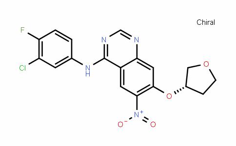 (S)-N-(3-chloro-4-fluorophenyl)-6-nitro-7-(tetrahyDrofuran-3-yloxy)quinazolin-4-amine