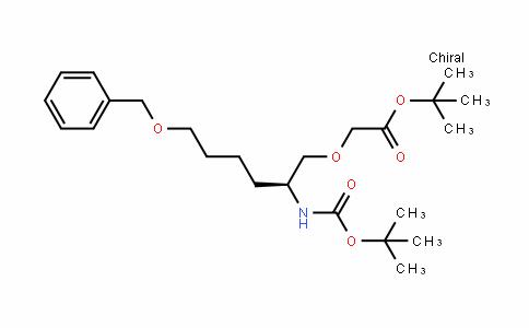 (S)-Tert-butyl 2-(6-(benzyloxy)-2-(Tert-butoxycarbonylamino)hexyloxy)acetate