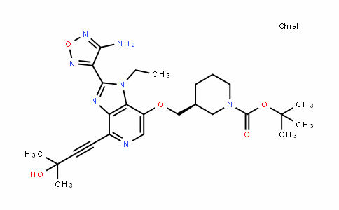 (S)-Tert-butyl 3-((2-(4-amino-1,2,5-oxaDiazol-3-yl)-1-ethyl-4-(3-hyDroxy-3-methylbut-1-ynyl)-1H-imiDazo[4,5-c]pyriDin-7-yloxy)methyl)piperiDine-1-carboxylate