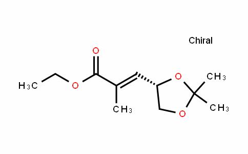 (S,E)-ethyl 3-(2,2-Dimethyl-1,3-Dioxolan-4-yl)-2-methylacrylate