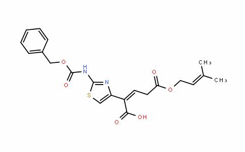 (Z)-2-(2-(benzyloxycarbonylamino)thiazol-4-yl)-5-(3-methylbut-2-enyloxy)-5-oxopent-2-enoic acid