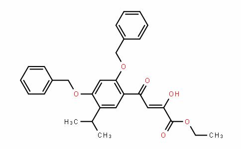 (Z)-ethyl 4-(2,4-bis(benzyloxy)-5-isopropylphenyl)-2-hyDroxy-4-oxobut-2-enoate