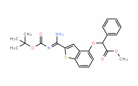 (Z)-methyl 2-(2-(N'-(Tert-butoxycarbonyl)carbamimiDoyl)benzo[b]thiophen-4-yloxy)-2-phenylacetate