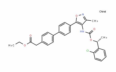 [1,1'-Biphenyl]-4-acetic acid, 4'-[4-[[[(1R)-1-(2-chlorophenyl)ethoxy]carbonyl]amino]-3-methyl-5-isoxazolyl]-, ethyl ester
