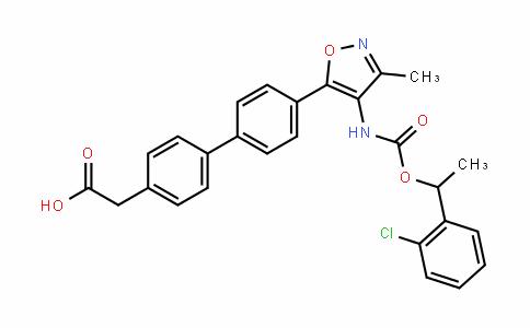 [1,1'-Biphenyl]-4-acetic acid, 4'-[4-[[[1-(2-chlorophenyl)ethoxy]carbonyl]amino]-3-methyl-5-isoxazolyl]-