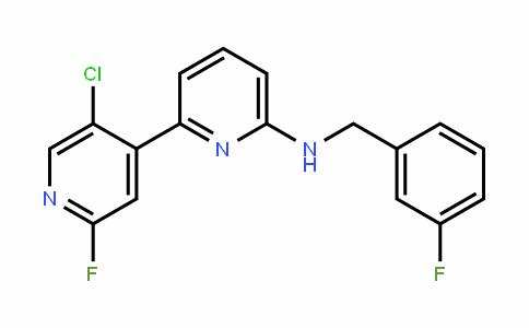 [2,4'-BipyriDin]-6-amine, 5'-chloro-2'-fluoro-N-[(3-fluorophenyl)methyl]-