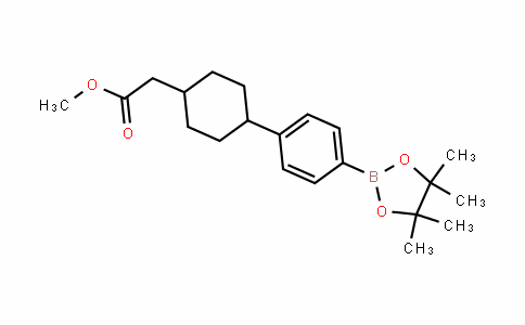 [4-[4-(4,4,5,5-Tetramethyl-[1,3,2]Dioxaborolan-2-yl)phenyl]cyclohexyl]acetic acid methyl ester