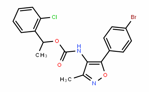 [5-(4-Bromophenyl)-3-methylisoxazol-4-yl]carbamic acid 1-(2-chlorophenyl)ethyl ester