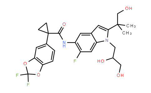 1-(2,2-Difluorobenzo[D][1,3]Dioxol-5-yl)-N-(1-(2,3-DihyDroxypropyl)-6-fluoro-2-(1-hyDroxy-2-methylpropan-2-yl)-1H-inDol-5-yl)cyclopropanecarboxamiDe