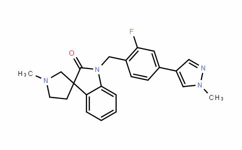 1-(2-fluoro-4-(1-methyl-1H-pyrazol-4-yl)benzyl)-1'-methylspiro[inDoline-3,3'-pyrroliDin]-2-one
