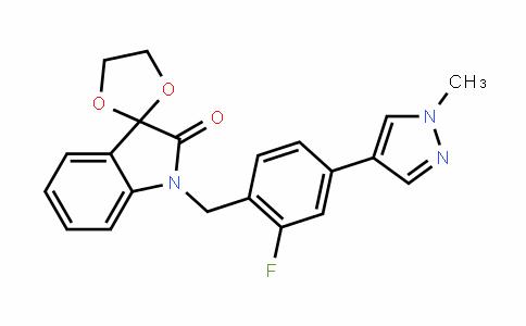 1'-(2-fluoro-4-(1-methyl-1H-pyrazol-4-yl)benzyl)spiro[[1,3]Dioxolane-2,3'-inDolin]-2'-one