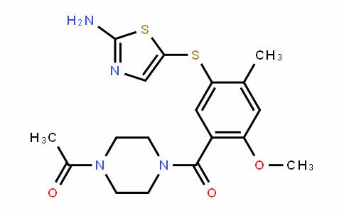 1-(4-(5-(2-aminothiazol-5-ylthio)-2-methoxy-4-methylbenzoyl)piperazin-1-yl)ethanone