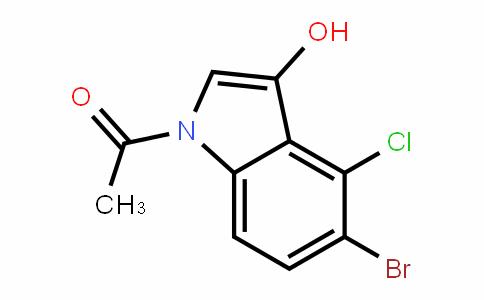 1-(5-bromo-4-chloro-3-hyDroxy-1H-inDol-1-yl)ethanone