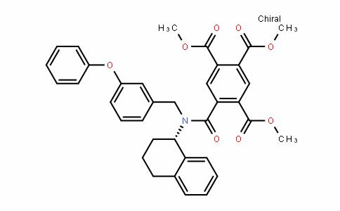 1,2,4-Benzenetricarboxylic acid, 5-[[[(3-phenoxyphenyl)methyl][(1S)-1,2,3,4-tetrahyDro-1-naphthalenyl]amino]carbonyl]-, 1,2,4-trimethyl ester