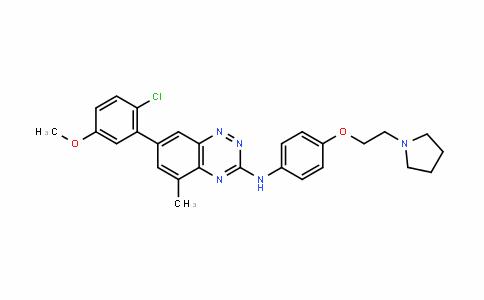 1,2,4-Benzotriazin-3-amine, 7-(2-chloro-5-methoxyphenyl)-5-methyl-N-[4-[2-(1-pyrroliDinyl)ethoxy]phenyl]-