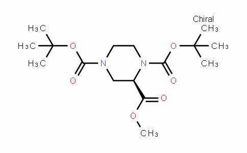 1,2,4-Piperazinetricarboxylic acid, 1,4-bis(1,1-Dimethylethyl) 2-methyl ester, (2R)-