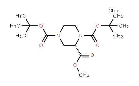 1,2,4-Piperazinetricarboxylic acid, 1,4-bis(1,1-Dimethylethyl) 2-methyl ester, (2S)-