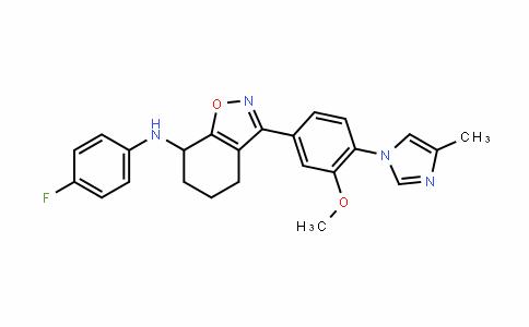 1,2-Benzisoxazol-7-amine, N-(4-fluorophenyl)-4,5,6,7-tetrahyDro-3-[3-methoxy-4-(4-methyl-1H-imiDazol-1-yl)phenyl]-