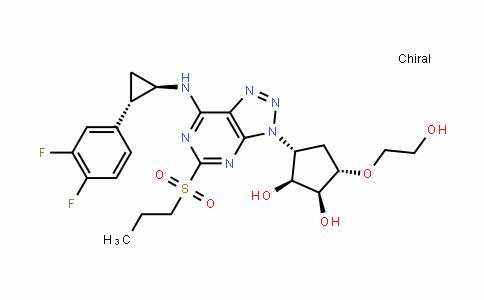 1,2-CyclopentaneDiol, 3-[7-[[(1R,2S)-2-(3,4-Difluorophenyl)cyclopropyl]amino]-5-(propylsulfonyl)-3H-1,2,3-triazolo[4,5-D]pyrimiDin-3-yl]-5-(2-hyDroxyethoxy)-, (1S,2S,3R,5S)-