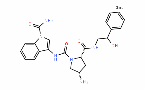 1,2-PyrroliDineDicarboxamiDe, 4-amino-N1-[1-(aminocarbonyl)-1H-inDol-3-yl]-N2-(2-hyDroxy-2-phenylethyl)-, (2S,4S)-