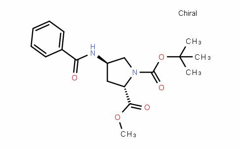 1,2-PyrroliDineDicarboxylic acid, 4-(benzoylamino)-, 1-(1,1-Dimethylethyl) 2-methyl ester, (2S,4R)-