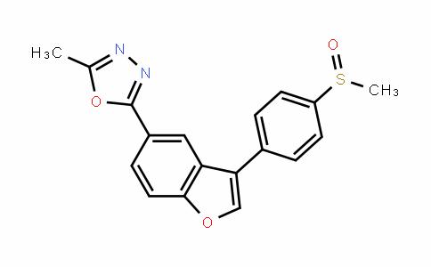 1,3,4-OxaDiazole, 2-methyl-5-[3-[4-(methylsulfinyl)phenyl]-5-benzofuranyl]-