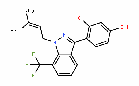 1,3-BenzeneDiol, 4-[1-(3-methyl-2-buten-1-yl)-7-(trifluoromethyl)-1H-inDazol-3-yl]-