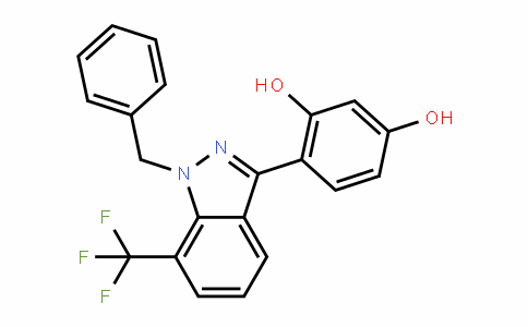 1,3-BenzeneDiol, 4-[1-(phenylmethyl)-7-(trifluoromethyl)-1H-inDazol-3-yl]-