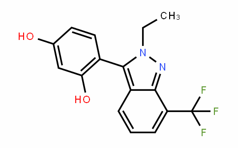 1,3-BenzeneDiol, 4-[2-ethyl-7-(trifluoromethyl)-2H-inDazol-3-yl]-