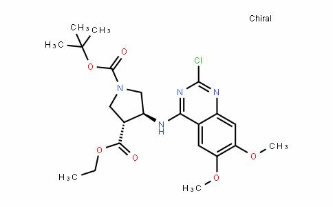 1,3-PyrroliDineDicarboxylic acid, 4-[(2-chloro-6,7-Dimethoxy-4-quinazolinyl)amino]-, 1-(1,1-Dimethylethyl) 3-ethyl ester, (3R,4S)-rel-