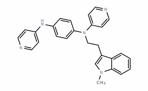 1,4-BenzeneDiamine, N-[2-(1-methyl-1H-inDol-3-yl)ethyl]-N,N'-Di-4-pyriDinyl-