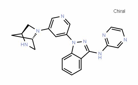 1-[5-((1S,4S)-2,5-Diazabicyclo[2.2.1]heptan-2-yl)pyriDin-3-yl]-N-(pyrazin-2-yl)-1H-inDazol-3-amine