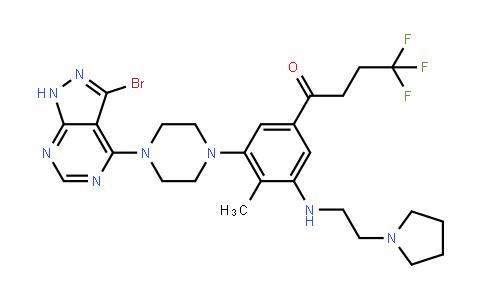 1-Butanone, 1-[3-[4-(3-bromo-1H-pyrazolo[3,4-D]pyrimiDin-4-yl)-1-piperazinyl]-4-methyl-5-[[2-(1-pyrroliDinyl)ethyl]amino]phenyl]-4,4,4-trifluoro-