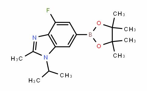 1H-BenzimiDazole, 4-fluoro-2-methyl-1-(1-methylethyl)-6-(4,4,5,5-tetramethyl-1,3,2-Dioxaborolan-2-yl)-
