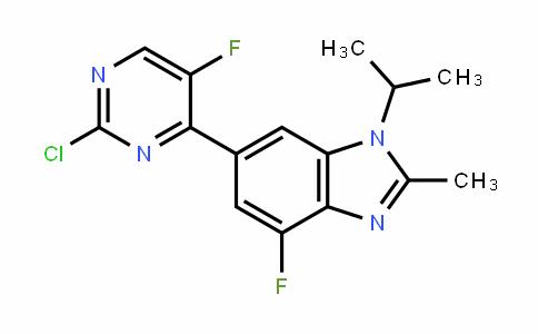 1H-BenzimiDazole, 6-(2-chloro-5-fluoro-4-pyrimiDinyl)-4-fluoro-2-methyl-1-(1-methylethyl)-