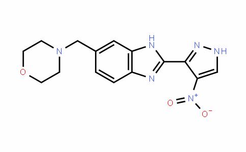 1H-BenzimiDazole, 6-(4-morpholinylmethyl)-2-(4-nitro-1H-pyrazol-3-yl)-