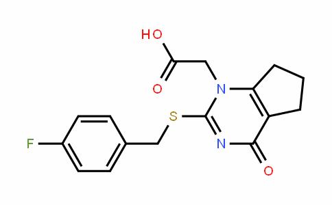 1H-CyclopentapyrimiDine-1-acetic acid, 2-[[(4-fluorophenyl)methyl]thio]-4,5,6,7-tetrahyDro-4-oxo-