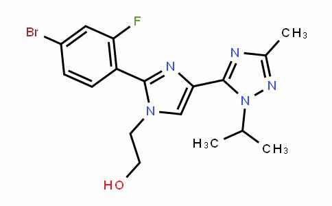 1H-ImiDazole-1-ethanol, 2-(4-bromo-2-fluorophenyl)-4-[3-methyl-1-(1-methylethyl)-1H-1,2,4-triazol-5-yl]-