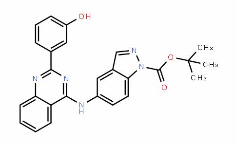 1H-InDazole-1-carboxylic acid, 5-[[2-(3-hyDroxyphenyl)-4-quinazolinyl]amino]-, 1,1-Dimethylethyl ester