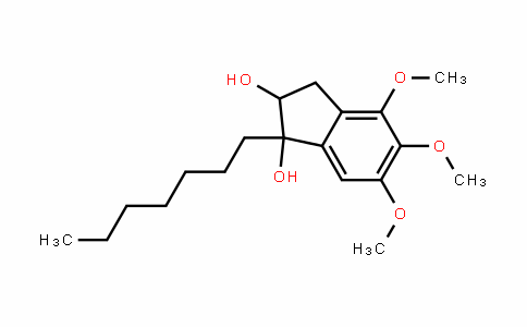 1H-InDene-1,2-Diol, 1-heptyl-2,3-DihyDro-4,5,6-trimethoxy-
