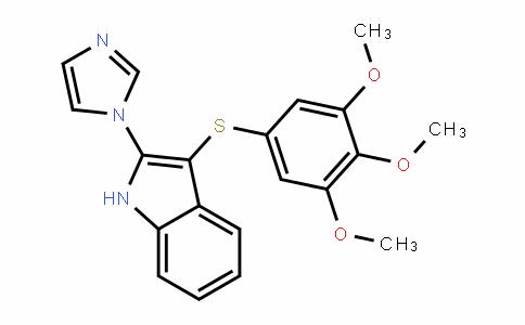 1H-InDole, 2-(1H-imiDazol-1-yl)-3- [(3,4,5-trimethoxyphenyl)thio]-
