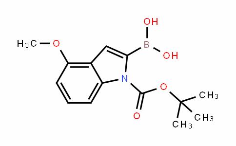 N-BOC-4-甲氧基-吲哚-2-硼酸