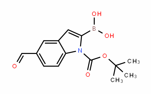 1H-InDole-1-carboxylic acid, 2-borono-5-formyl-, 1-(1,1-Dimethylethyl) ester
