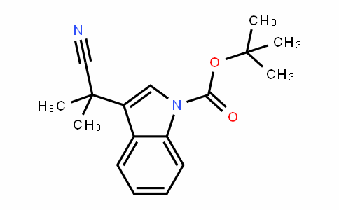 1H-InDole-1-carboxylic acid, 3-(1-cyano-1-methylethyl)-, 1,1-Dimethylethyl ester